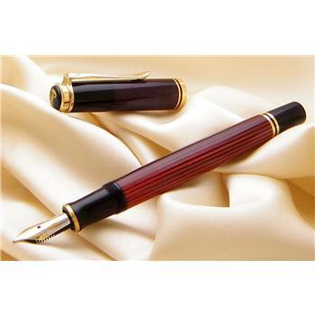 Pelikan Dolma Kalem Souveran Bordo-Siyah Sedefli M400 (Black-Red)