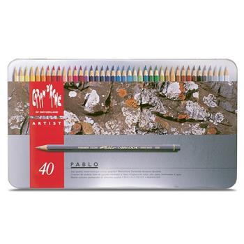 Caran d'Ache Pablo Metal Box 40 Renk Boya Kalem Seti 666.340