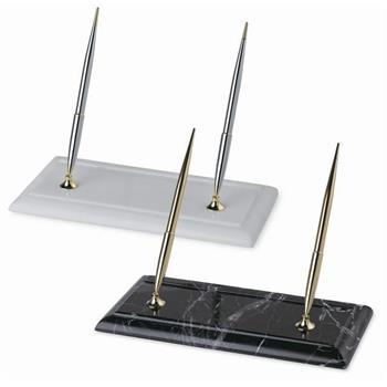 Scrikss Masa Takımı Siyah Mermer Dolma Kalem+Tükenmez Kalem