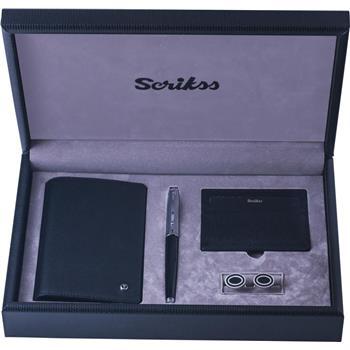 Scrikss Jotter Notluk +Kredi Kartlık +39 Roller Kalem Siyah+Kol Düğmesi SDR300