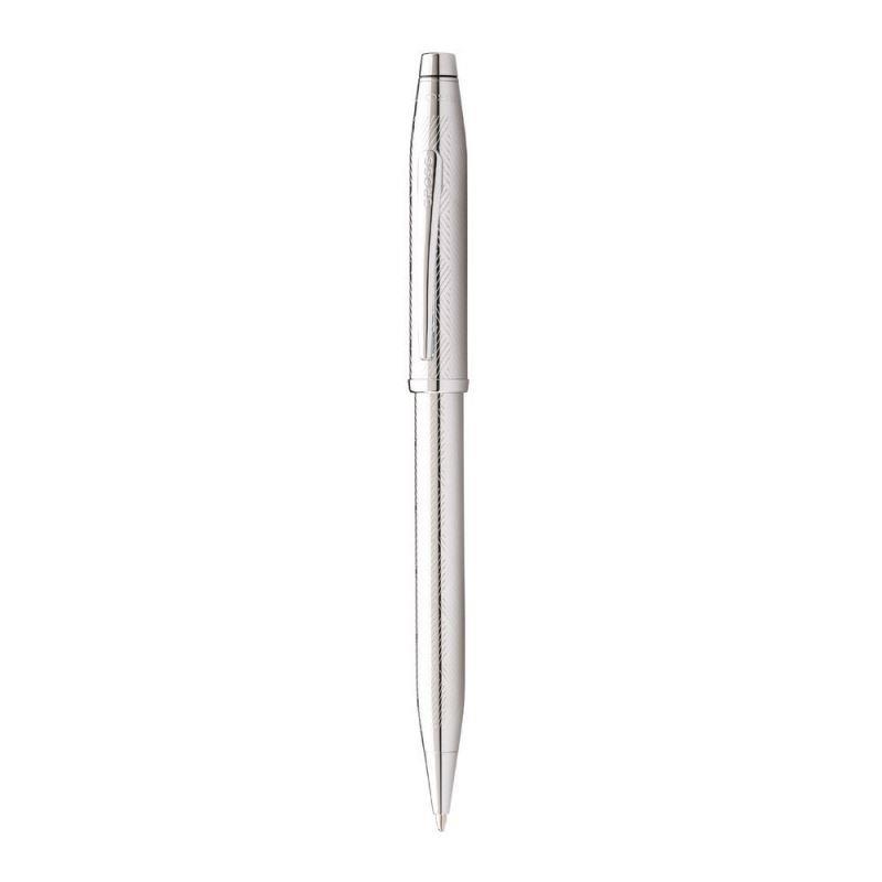 Cross Century2 Herringbone İşlemeli Krom Tükenmez kalem AT0082WG-92