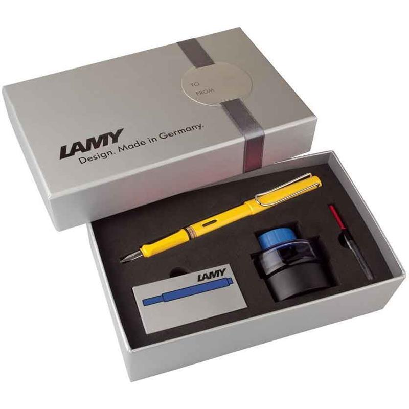 Lamy Dolma Kalem Safari Mürekkep+Kartuş+Piston Sarı 18Ds-M