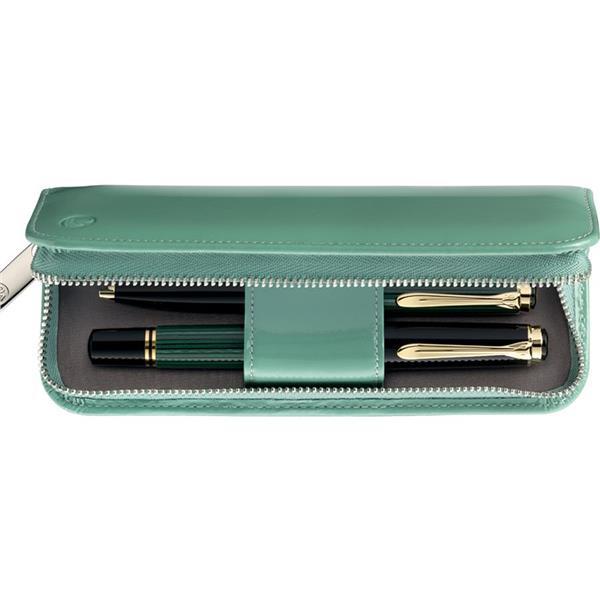 Pelikan Deri Kalem Kılıfı İkili Yeşil Tg181