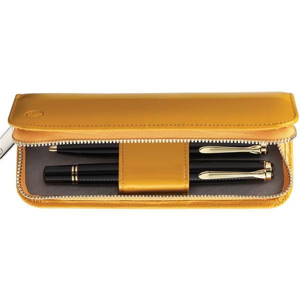 Pelikan Deri Kalem Kılıfı İkili Sarı Tg182