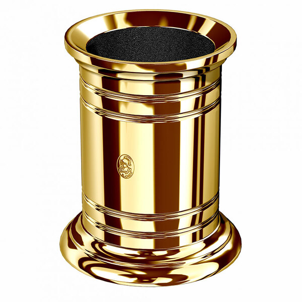 El Casco Dorado Kalemlik Büyük 23kt Altın M-654-L
