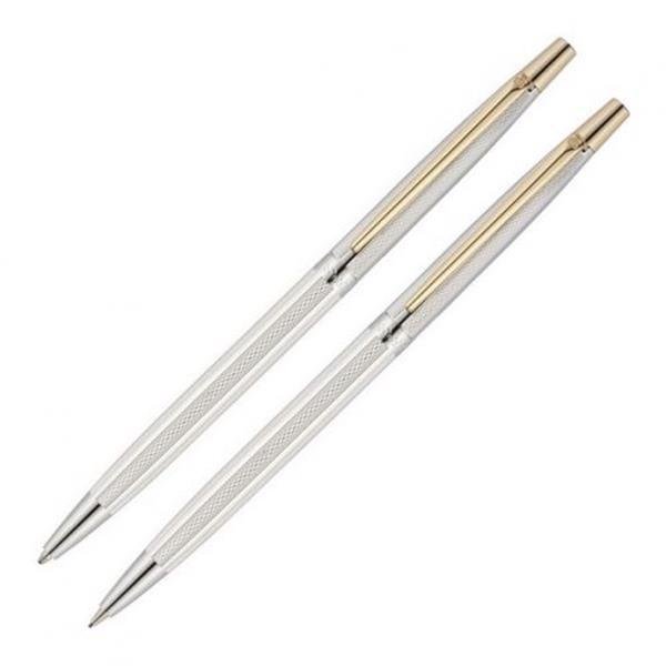 Scrikss Tükenmez Kalem+Versatil 711w Balıksırtı Gümüş Krom