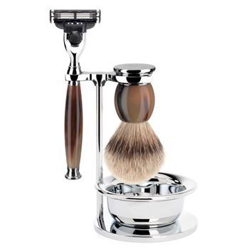 Mühle Tıraş Seti Boz Porsuk Hakiki Boynuz Gillette ® Mach3 ® S 93 B 42 S