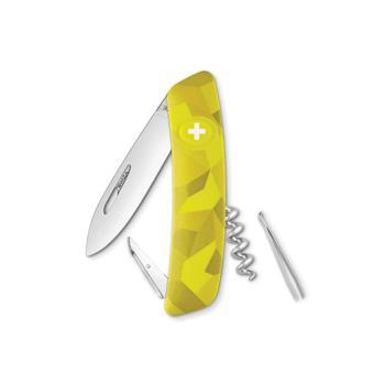 Swiza Lüks İsviçvre Çakısı Sarı Desenli C 01