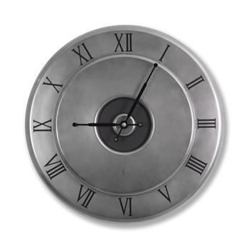 Sy Time Kekova Büyük Duvar Saati (100 cm) Nikel SYT-8918