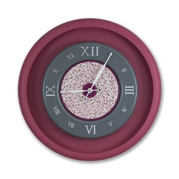 Sy Time Zeugma Q Büyük Duvar Saati (120 cm) Bordo SYT-7577