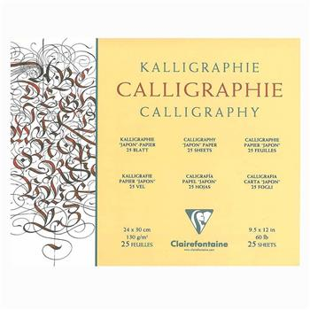 Clairefontaine Calligraphy Blok 24x30cm 130gr 25YP CL96439