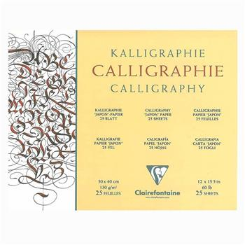 Clairefontaine Calligraphy Blok 30x40cm 130gr 25YP CL96440