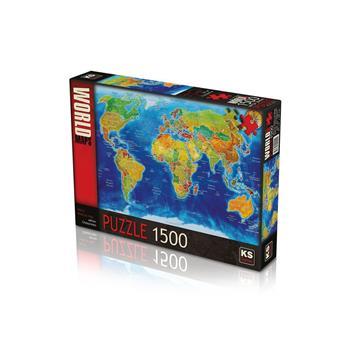 KS Games World Political Map 1500 Parça Puzzle 22011
