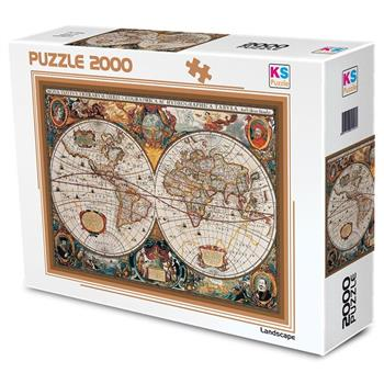 Ks Games 2000 Parça Puzzle 17th Centruy World Map 11204