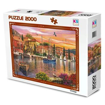 Ks Games 2000 Parça Harbour Sunset Puzzle 11308