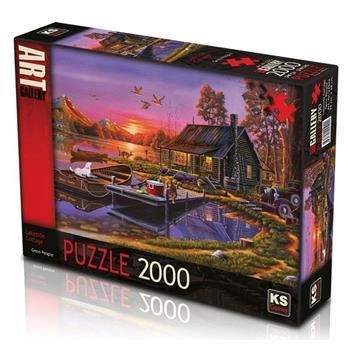 KS Games Lakeside Cottage 2000 Parça Puzzle 22502