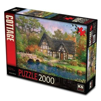 KS Games The Stoney Bridge Cottage 2000 Parça Puzzle 11479