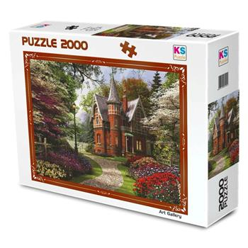 KS Games Victorian Cottage In Bloom 2000 Parça Puzzle 11294