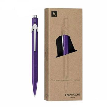 Caran d'Ache 849 Nespresso 3 Tükenmez Kalem Purple Limited Edition 849.104
