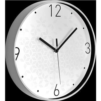 Leitz WOW Sessiz Duvar Saati Metalik Beyaz 90150001
