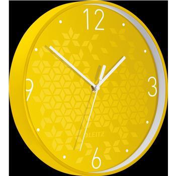 Leitz WOW Sessiz Duvar Saati Metalik Sarı 90150016