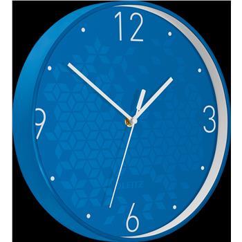 Leitz WOW Sessiz Duvar Saati Metalik Mavi 90150036