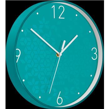 Leitz WOW Sessiz Duvar Saati Metalik Buz Mavisi 90150051