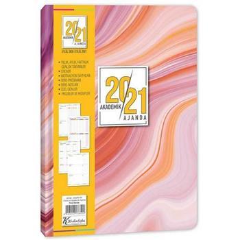 Keskin Color 17x24 Ciltli Akademik Ajanda - Pink Marble 830260-99