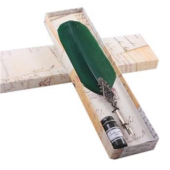 Francesco Rubinato Tüylü Divit Kalem+ Mürekkep 7027 Yeşil