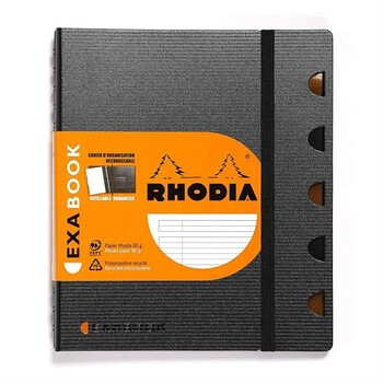 Rhodia Siyah A5 Çizgili Fonksyonel Defter 132576