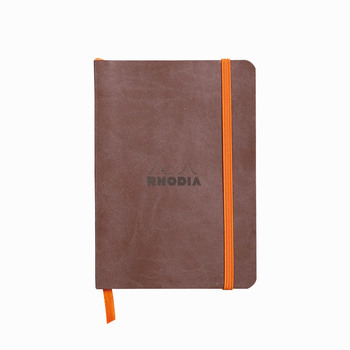 Rhodia Softcover Deri Kapak A6 Noktalı (Dot Pad) Defter Çikolata 117353