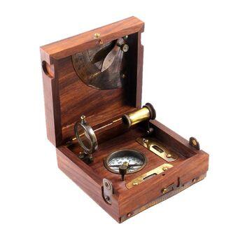 Icapra Antique Marine Box Pusula Set