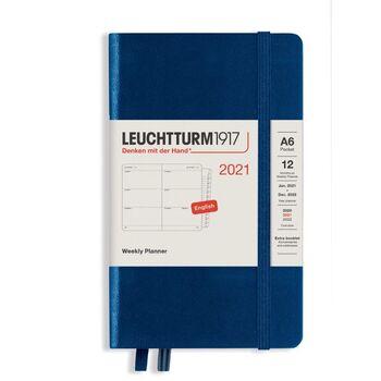 Leuchtturm1917 Weekly Planner Pocket (Kutucuklu) A6 Navy 362006 Ajanda 2021