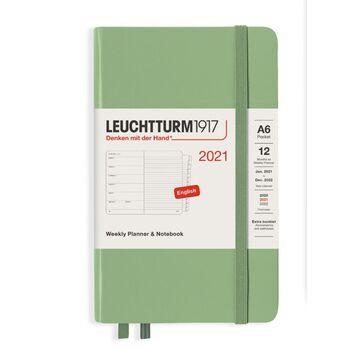Leuchtturm1917 Weekly Planner + Notebook A6 Sage 361863 Ajanda 2021