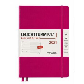 Leuchtturm1917 Weekly Planner + Notebook Berry (A5) 361845 2021 Ajanda