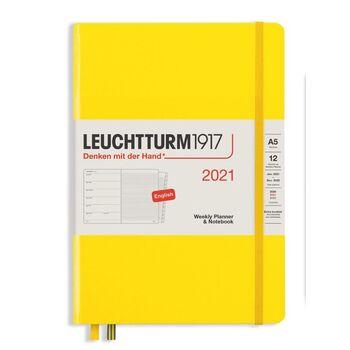 Leuchtturm1917 Weekly Planner + Notebook Lemon A5 361848 2021 Ajanda