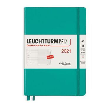 Leuchtturm1917 Weekly Planner + Notebook Emerald A5 361850 2021 Ajanda