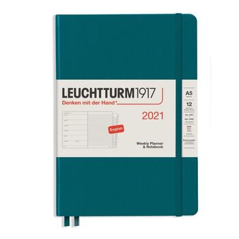 Leuchtturm1917 Weekly Planner + Notebook Pacific A5 361851 2021 Ajanda