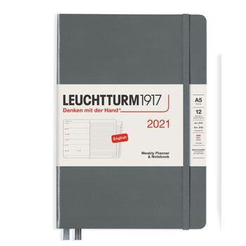 Leuchtturm1917 Weekly Planner + Notebook Anthracite A5 361855 2021 Ajanda
