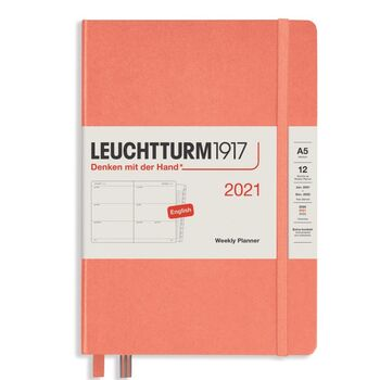 Leuchtturm1917 Weekly Planner With Booklet (Kutucuklu) Bellini A5 361994 2021 Ajanda