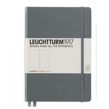 Leuchtturm1917 Orta Boy (A5) Not Defteri Düz Antrasit Gri Sert Kapak 344785