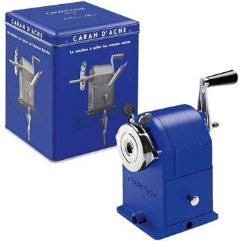 Caran d'Ache Klein Blue Masa Üstü Kollu Kalemtıraş Metal Mavi Limited Edition 455.648