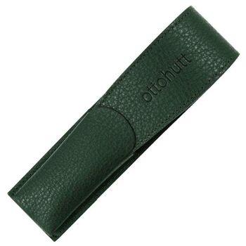 Otto Hutt Deri Kalem Kılıfı İkili Yeşil 156-62345