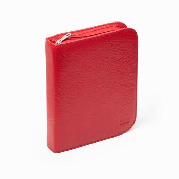 Carens Kalem Çantası Deri 20' Li Dokulu Kırmızı