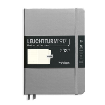 Leuchtturm1917 Weekly Planner + Notebook Silver A5 363775 2022 Ajanda