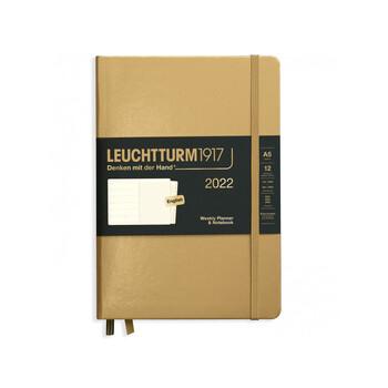 Leuchtturm1917 Weekly Planner + Notebook Gold A5 363774 2022 Ajanda