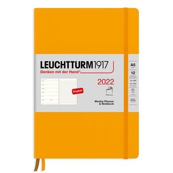 Leuchtturm1917 Weekly Planner + Notebook Soft Cover A5 Rising Sun 363791 Ajanda 2022
