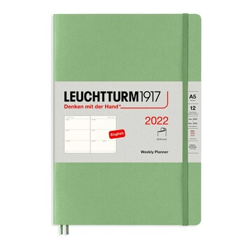 Leuchtturm1917 Weekly Planner Soft Cover With Booklet (Kutucuklu) Sage A5 363851 2022 Ajanda