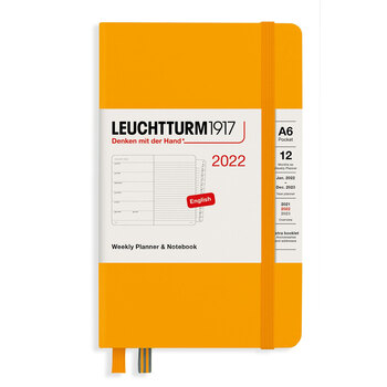 Leuchtturm1917 Weekly Planner + Notebook Rising Sun A6 363782 2022 Ajanda