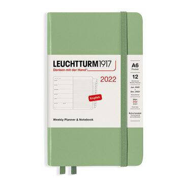 Leuchtturm1917 Weekly Planner + Notebook Sage A6 363783 2022 Ajanda